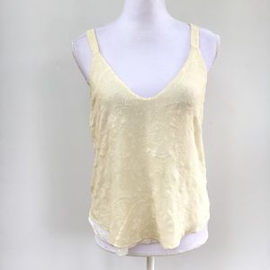 Rory Beca embroidered silk straps tank top cream S